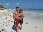Jo-Anne Wymer (Schultz) and Chuck, husband of 30 years, in the Mayan Riviera.